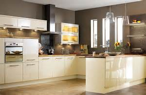 Cream Kitchen Designs by It Gloss Cream Slab Kitchen Ranges Kitchen Rooms