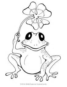 printable frog amp clover coloring inky octopus