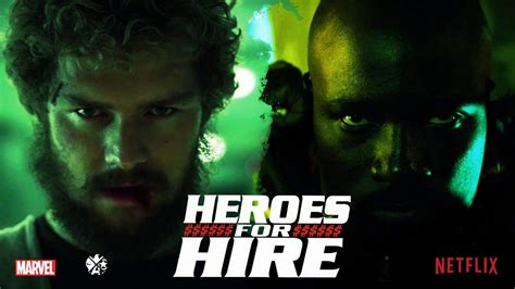 for hire mike colter finn jones a heroes for hire dynamic