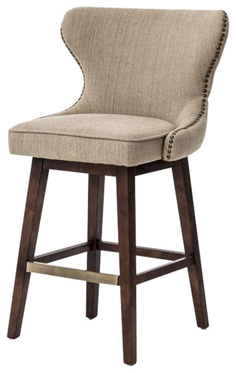 restaurant swivel bar stools four hands metro julie swivel barstool hyde clay