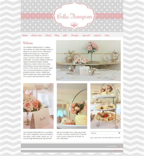 Cute Boutique Website Template Premade Website Template Easy To Use The Quot Bella Quot Website Free Boutique Templates For Website
