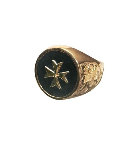 black onyx maltese cross scottish gold plated sterling