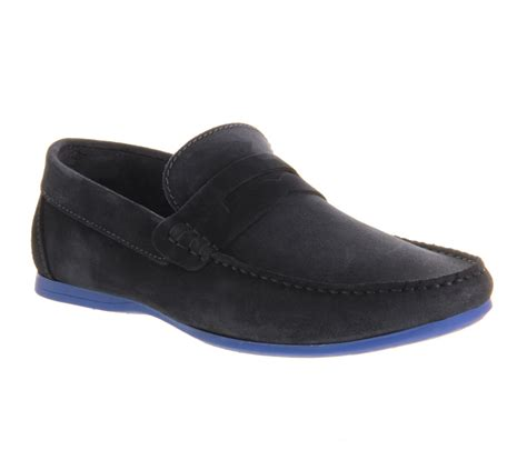 New Arrival Fashion Orlando Suede Classic Loafers A 5 ask the missus orlando loafers navy suede blue sole