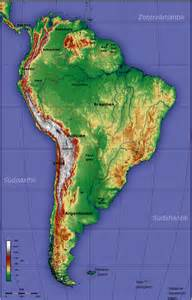 topographic map of south america
