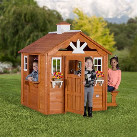 playhouse backyard discovery summer cottage wooden cedar