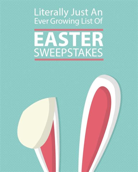 List Of Sweepstakes - literally just an ever growing list of easter sweepstakes winzily