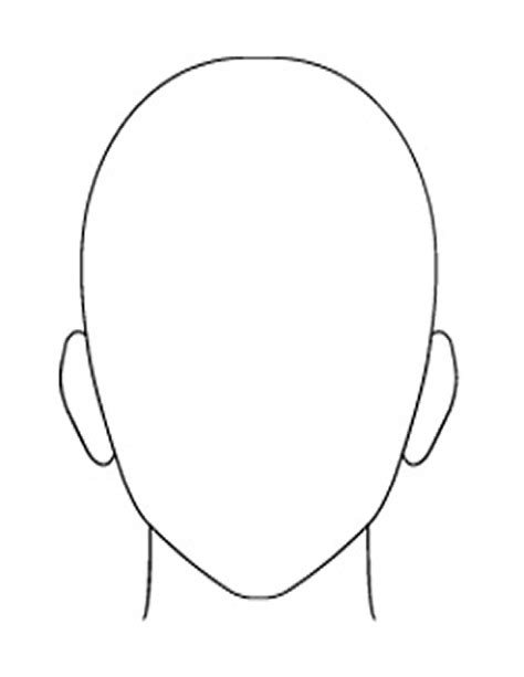 headshot template shape outline www pixshark images galleries