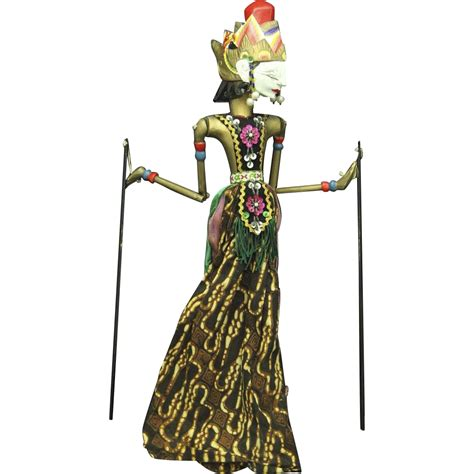 indonesian vintage java shadow puppet doll for wayang