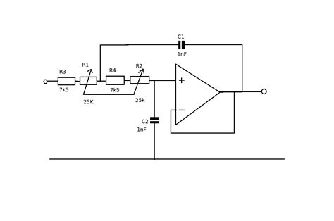 high pass filter volume pot filter low pass sallen key with variable cut frequency electrical engineering stack exchange