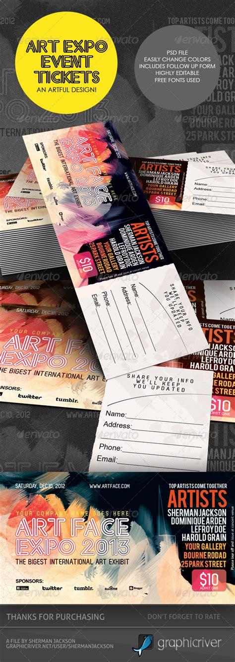 Expo Template Dinner Tickets Design Templates Photoshop 187 Tinkytyler Org