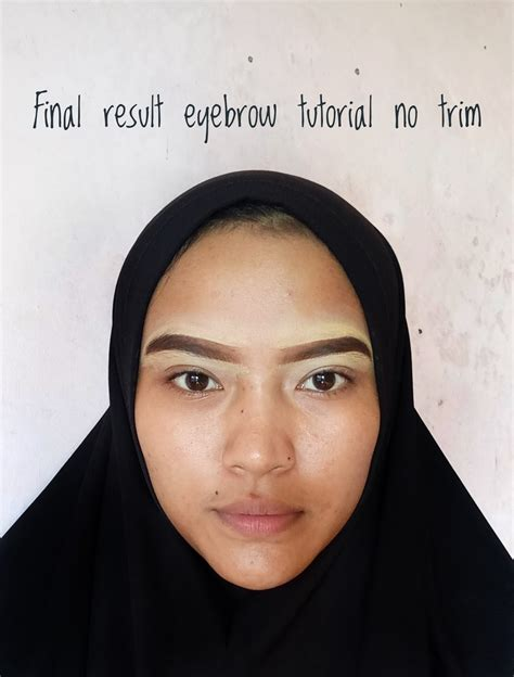 membuat alis gradasi beginner beauty enthusiast how to make eyebrow tutorial