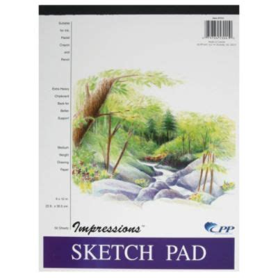 kmart sketchbook carolina pad 7312 impressions sketch pad 50 sheets 1 each