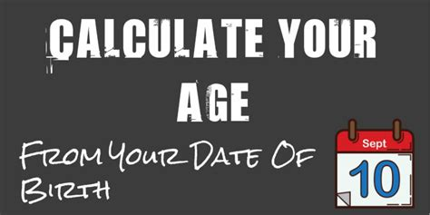 how to determine age how to calculate age from date of birth in excel