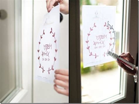 Fensterdekoration Weihnachten Mit Vorlagebö Und Einem Kreidestift by Die 25 Besten Ideen Zu Glasmalerei Auf Mosaik