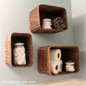 baskets for bookshelves turning baskets into shelves the six fix