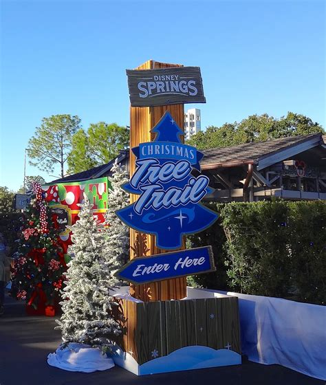 christmas tree trail at disney springs review and photo