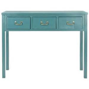 Teal Console Table Safavieh American Home Collection Teal Console Table Amh6568h The Home Depot