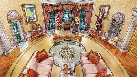 what does the oval office look like today cherubs marble and louis xiv what donald trump s oval