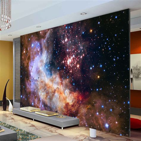 galaxy bedroom walls aliexpress com buy 3d gorgeous galaxy photo wallpaper