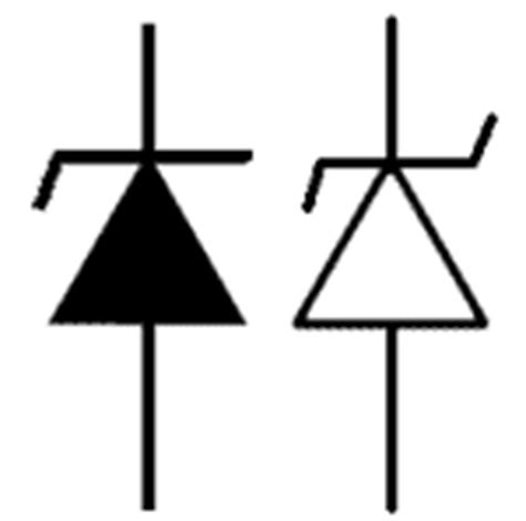 symbol for silicon diode zener diodes