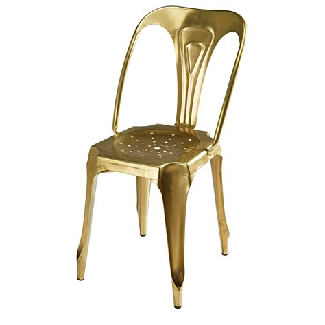 stuhl industrial look stuhl im industrial style aus goldfarbenem metall multipl