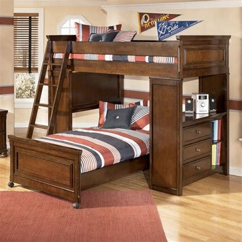 ashley furniture kids beds portsquire loft bed with chest desk from signature