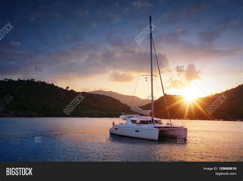 catamaran yacht images yacht catamaran tropical sea image photo bigstock