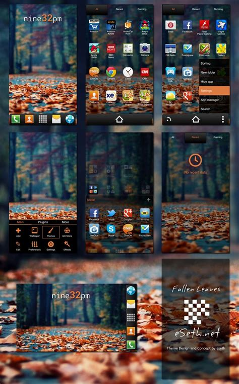 launcher x themes fallen leaves go launcher ex theme by gseth on deviantart