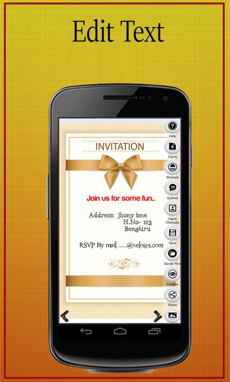 Wedding Invitation Template Cell Phone Beautiful Party Invitation Card Maker Android Apps On Phone Template Maker