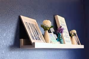 ikea shelf with lip diy photo ledge reveal