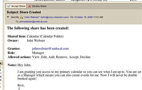 share email zimbra tip calendar sharing transmission