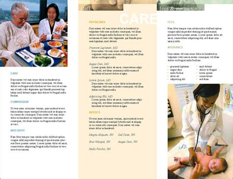 free templates for medical brochures best photos of sle medical brochures medical office