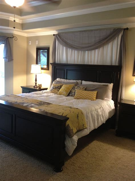 yellow master bedroom minus the curtains white grey yellow master bedroom