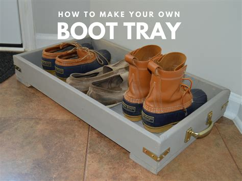 diy shoe tray do it yourself wood boot tray i m fixin to