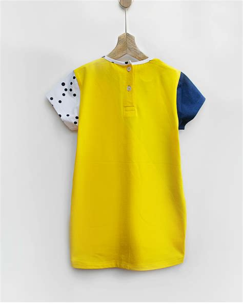 Toddler Cotton Spandek Seamed Utility triangle knit dress with seam pockets by pluie the secret label