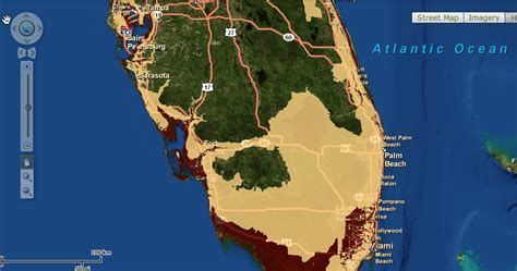 sea level rise florida map sea level rise coming to a place near you