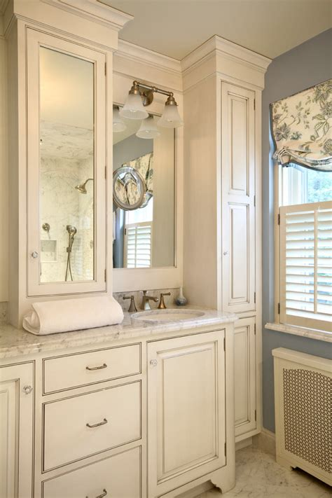 gray painted bathroom cabinets