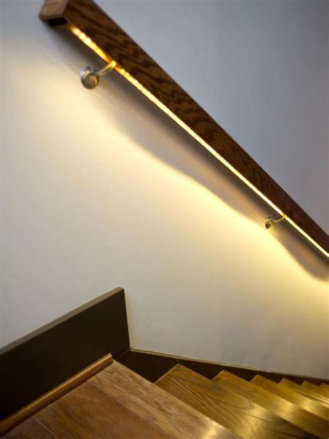 Handrail Lighting modern lighting ideas that turn the staircase into a centerpiece