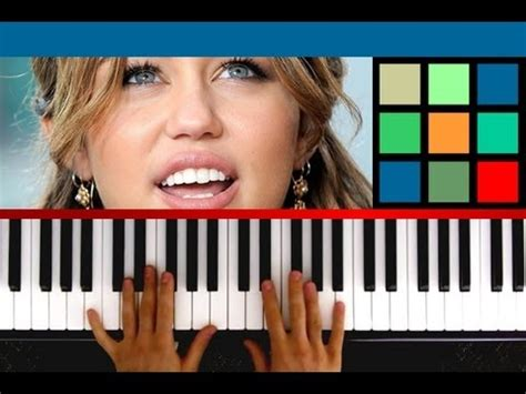 tutorial piano miley cyrus how to play quot when i look at you quot piano tutorial sheet