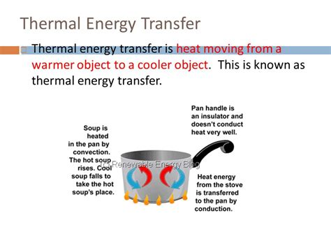 pattern of thermal energy heat transfer conduction convection and radiation ppt