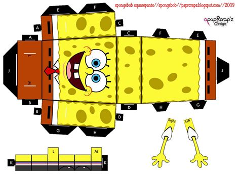 How To Make Spongebob With Paper - image gallery spongebob papercraft