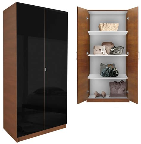 Wardrobe Cabinet With Shelves Alta Wardrobe Cabinet 3 Shelves Doors Contempo