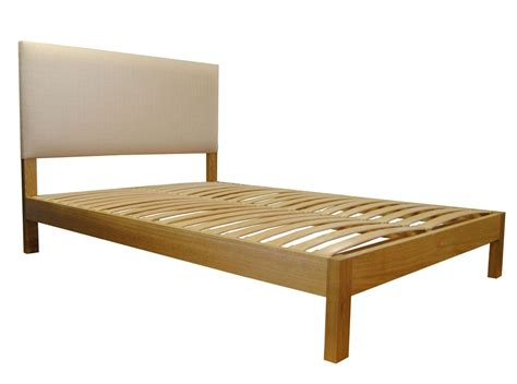 headboard 4ft lancaster double solid oak bed with integrated upholstered