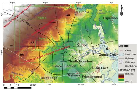 houston tx elevation map lidar mapping of faults in houston usa pdf