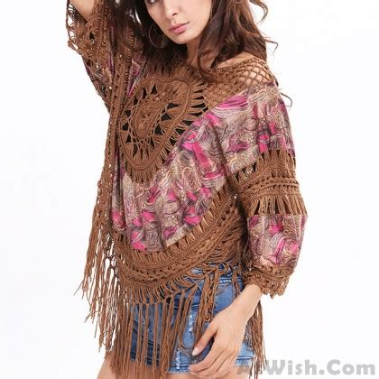 Buteeq Tassel Outer 4 indian style outer blouse tassel knitting large size tops s tops s clothing