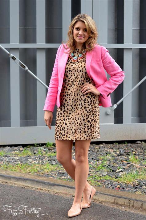 Blazer Fizz Cheetah Print Shift Dress And A Pink Blazer Fizz And