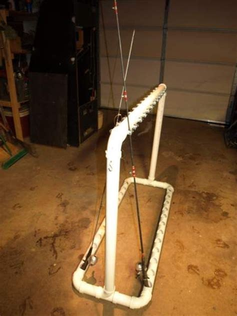 How To Build A Fishing Pole Rack by Pvc Fishing Rod Rack