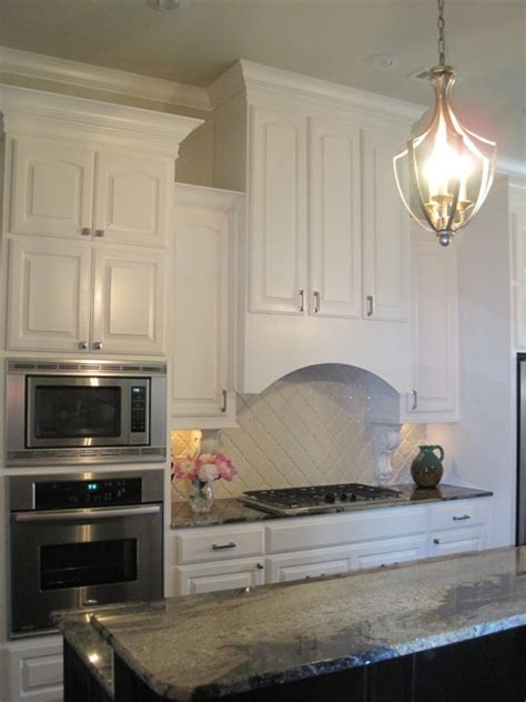 linen white kitchen cabinets curved range hood transitional kitchen benjamin