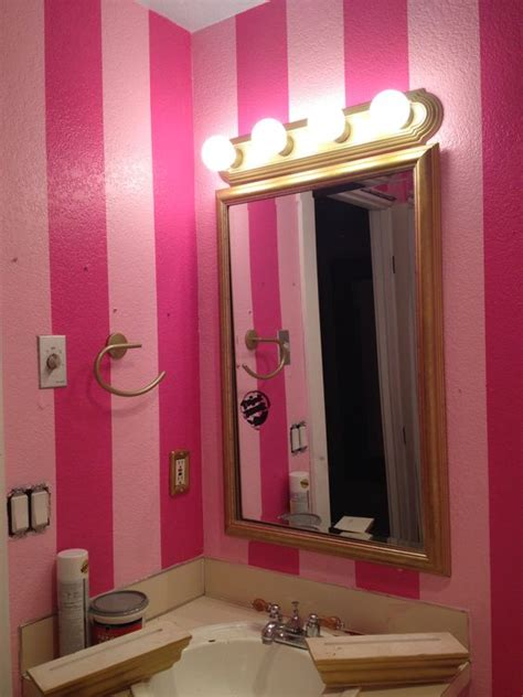 secret bathroom girl bathrooms pink walls and bathroom pink on pinterest