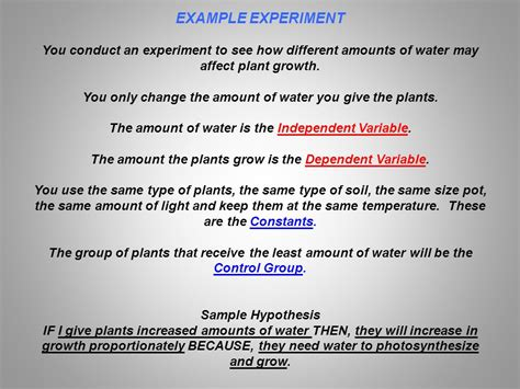 design an experiment using the same setup to investigate keys to conducting a good experiment variables the things